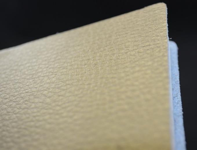 Profesional Gold Color Custom Paper Notebooks Leather Texture Surface