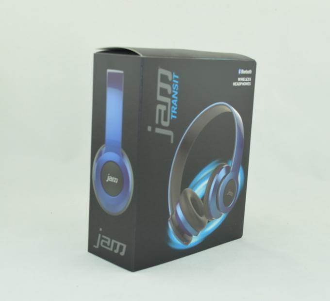 Magnetic Closure Foldable Bluetooth Headset Box , Headphone Packaging Box