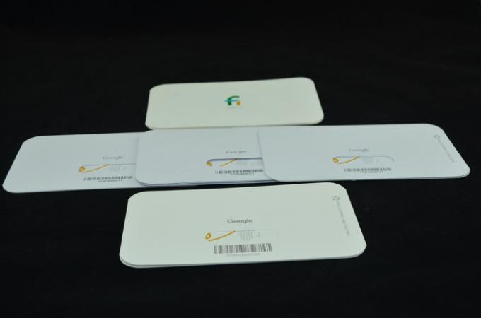 Rectangle Recycled Paper Google Fi SIM Card For Electronic Accessory Packaging