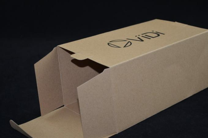 Kraft Paper Electronic Accessories Packaging Eco-friendly 110 X 90 X 200 mm
