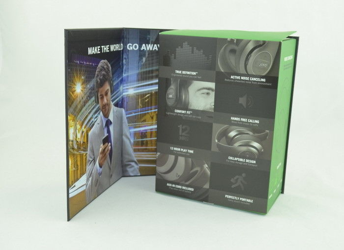 Printing Wireless Bluetooth Headset Box Paper Packing With Flip Cover