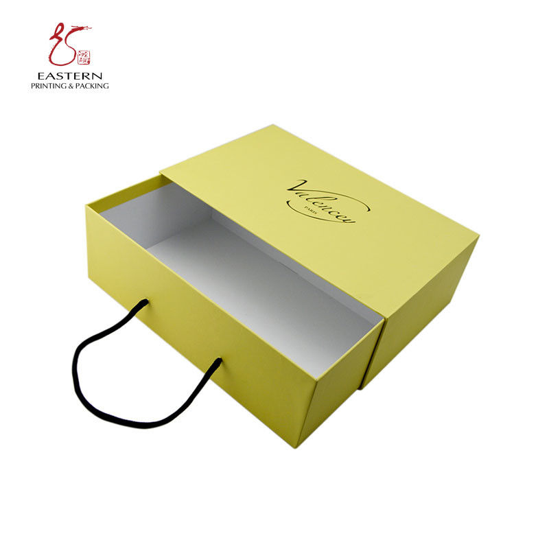 Bright Color 150mm Width Rigid Cardboard Gift Boxes With Drawer